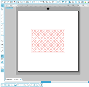 This is what your design should look like after you weld your background to your rectangle border.
